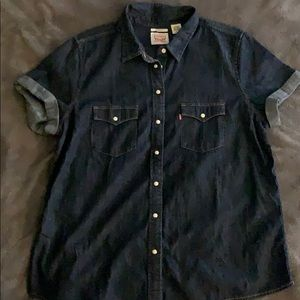 Lexis Button Up Jean Shirt